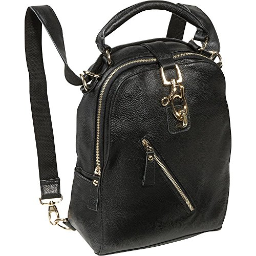 AmeriLeather Quince Leather Handbag/Backpack (Black)