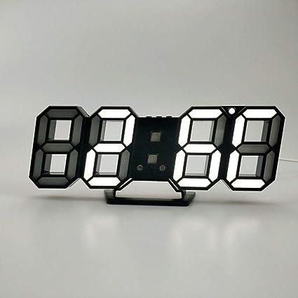 feifei Reloj De Pared Electrónico del Abs, 3D Reloj Digital Personalidad Led Casa Reloj-