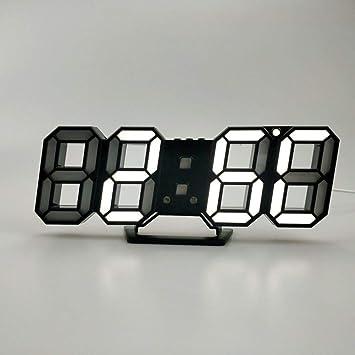 feifei Reloj De Pared Electrónico del Abs, 3D Reloj Digital Personalidad Led Casa Reloj-G: Amazon.es: Hogar