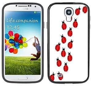 Ladybugs Lady Bugs Handmade Samsung Galaxy S4 Black Bumper Hard Plastic Case