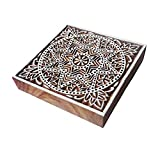6 Inch Body Tattoo Large Wood Stamp Square Star Design Big Printing Block