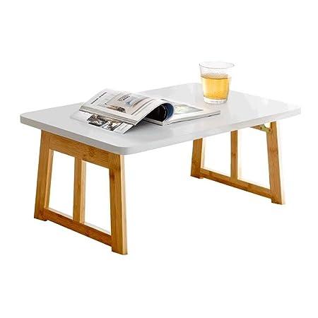 LSXUE Mesa plegable - Mesa de madera de bambú para computadora ...