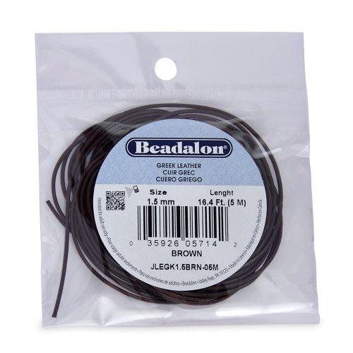 Beadalon Greek Leather Brown 5 Meter