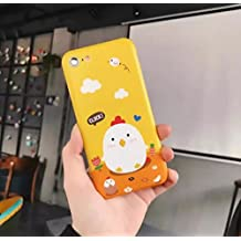 iPhone 6/6S Plus Case,iPhone Chicken Pattern Case,Goodaa Cute Lovely Elegant Chicken Pattern Cover Pure Yellow Soft TPU Case For iPhone 6/6S Plus