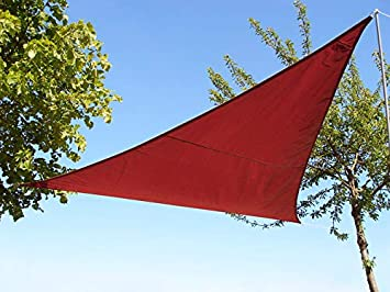 Kookaburra Waterproof Sun Sail Shade Wine Burgundy – 11ft 10 Triangular