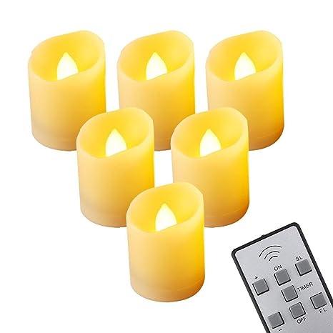 6 Piezas LED Velas Electrónicas, Velas Sin Llama, Perfectas ...