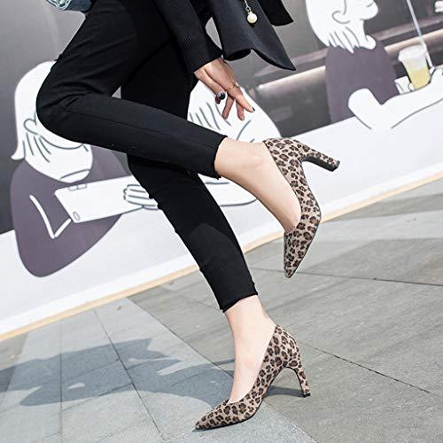 To Chaussures Avec Travail Haut Mode Toe Chaussures Décontractées De Respirant Imprimé Slip Sandals Kaki Daim Léopard Anti Zyueer Féminine Talon AZ8R5gwnUq