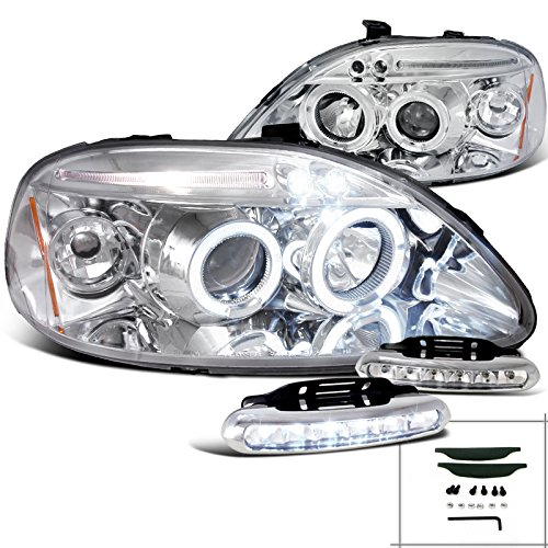96 honda civic halo headlights - 5