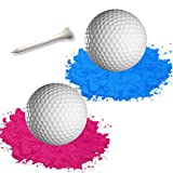 Gender Reveal Golf Balls | One Pink, One Blue + Wooden Tee Included | Best Gift for Expecting Parents