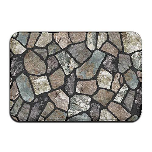 Cheap  HENDOOR Flagstone Grey Stone Non-Slip Doormat Door Rug Indoor,Outdoor,Entrance,Patio,Bathroom,Kitchen,Living Room,Bedroom,Office,Etc