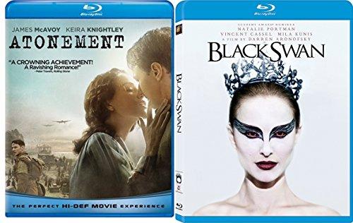 Black Swan & Atonement Blu Ray 2 Pack Love & Thriller Movie Set