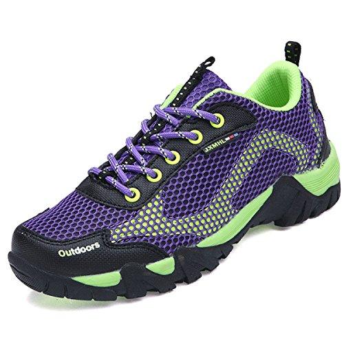 Primavera Y Otoño Los Amantes Al Aire Libre Sra CHT Zapatos Para Caminar Purple