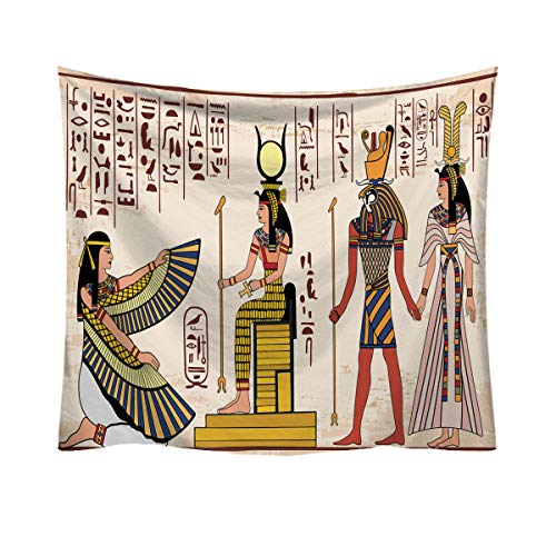 African Egyptian Tapestry Wall Hanging Traditional Ancient Egypt Civilization Backdrop Cloth Wall Art for Home Living Room Guest Room Headboard Campus Dorm Makeover HRGT01 Egypt # 4 W79 x H:59
