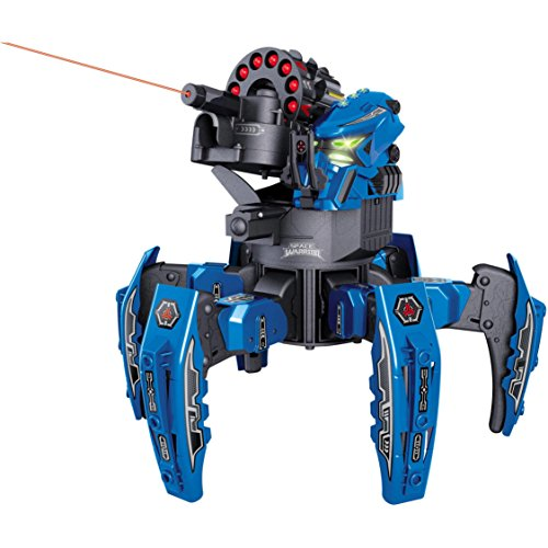Apache Warrior Costume (Space Warrior 2.4Ghz Electronic Missile Weapon Remote Control Blue Battle Robot)