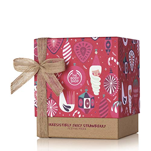 The Body Shop strawberry gift Set, Moisurizes & Softens Skin, Enriched With Community Trade Shea Butter From Ghana, 5Piece (The Christmas Body Shop)