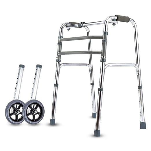 WY-WHEEL Andador Plegable para Ancianos Ligero, con Dos Ruedas ...
