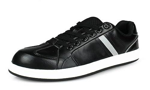 DDTX Zapatillas de Seguridad Hombre Trabajo Comodas Zapatos Deportivos de Seguridad con Puntera de Plastico Ligero Negro: Amazon.es: Zapatos y complementos