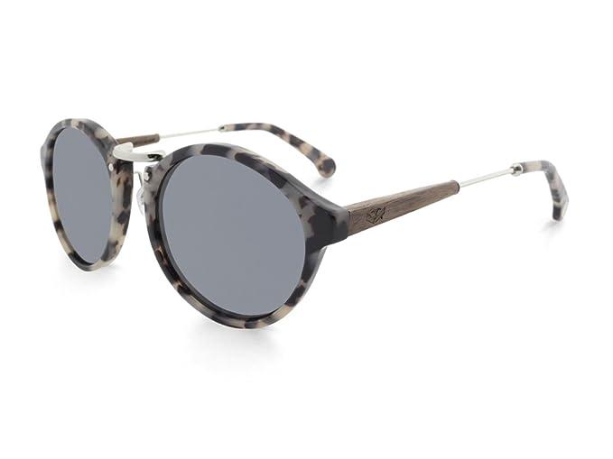 Gafas de Sol de madera MOSCA NEGRA modelo ICE X2 con lentes polarizadas: Amazon.es: Ropa y accesorios