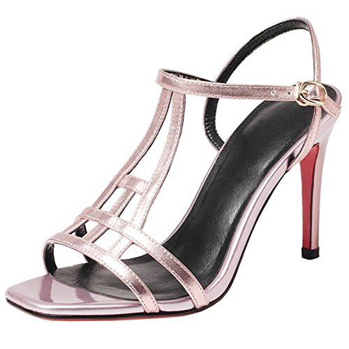 Damen Spange T Sandalen Sommer Pink COOLCEPT nYxPqS7vS