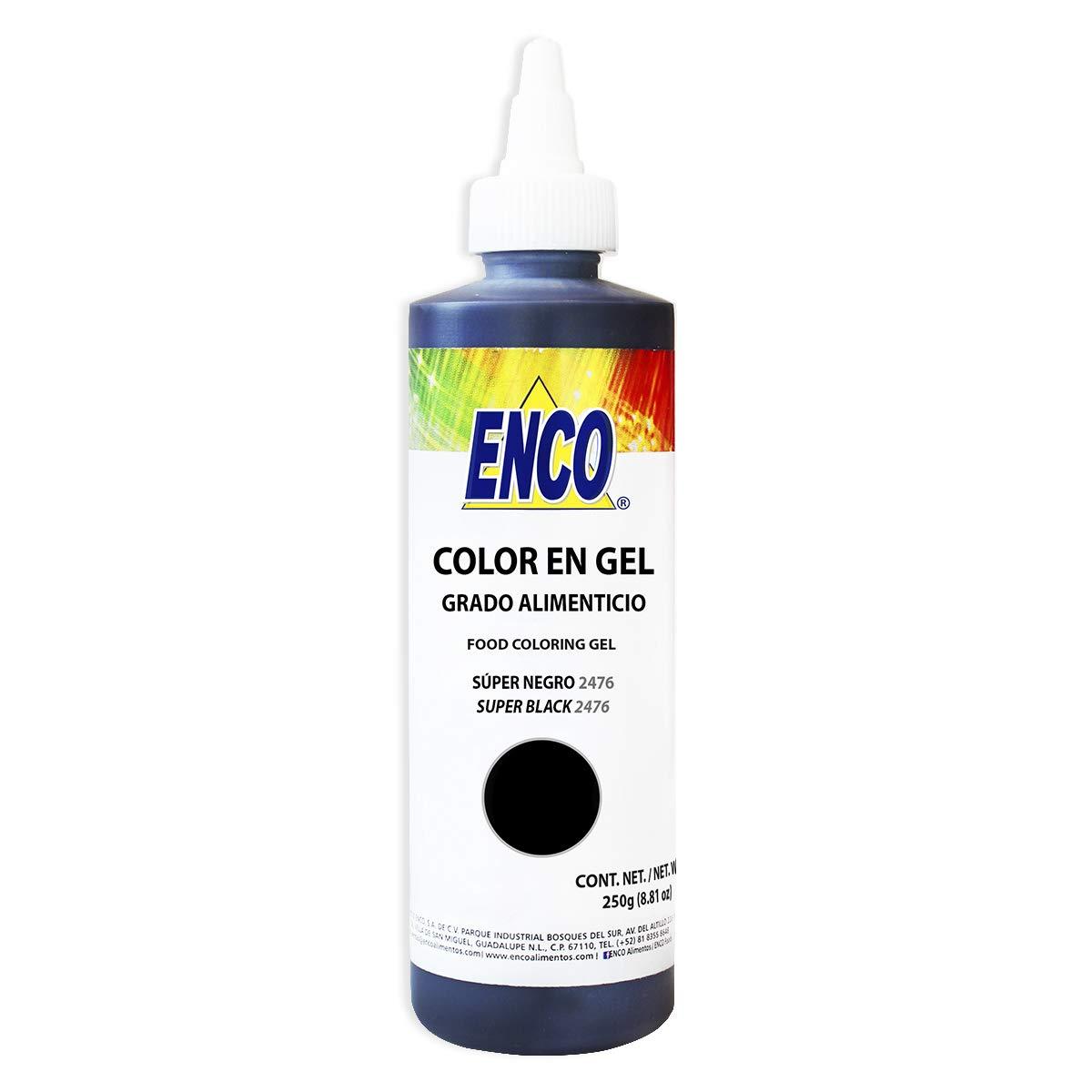 ENCO GEL FOOD COLOR 8.8 OZ (SUPER BLACK 2476)