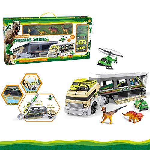 Dinosar Transporter Wildlife Hnting Car Carrying Toy Trailer Gift