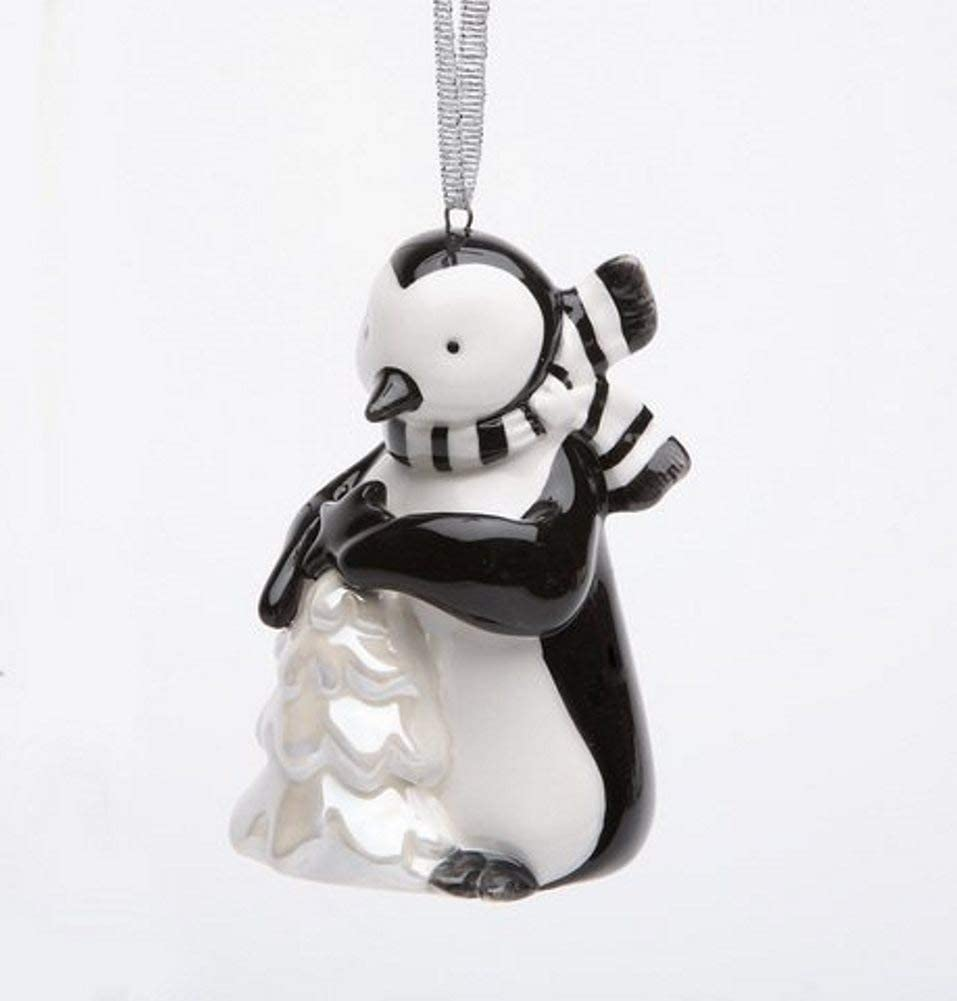 Appletree Design Penguin with White Christmas Tree Ornament, 3-1/2-Inch Tall, Includes String for Hanging