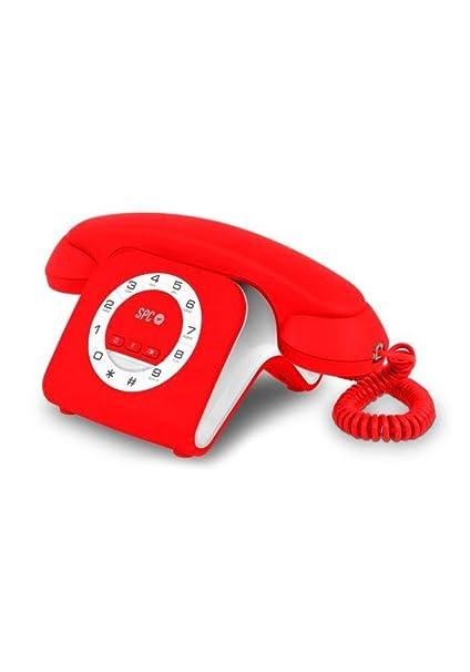 SPC Retro Elegance Mini - Teléfono Fijo (Teléfono de diseño, Volumen de Timbre Regulable