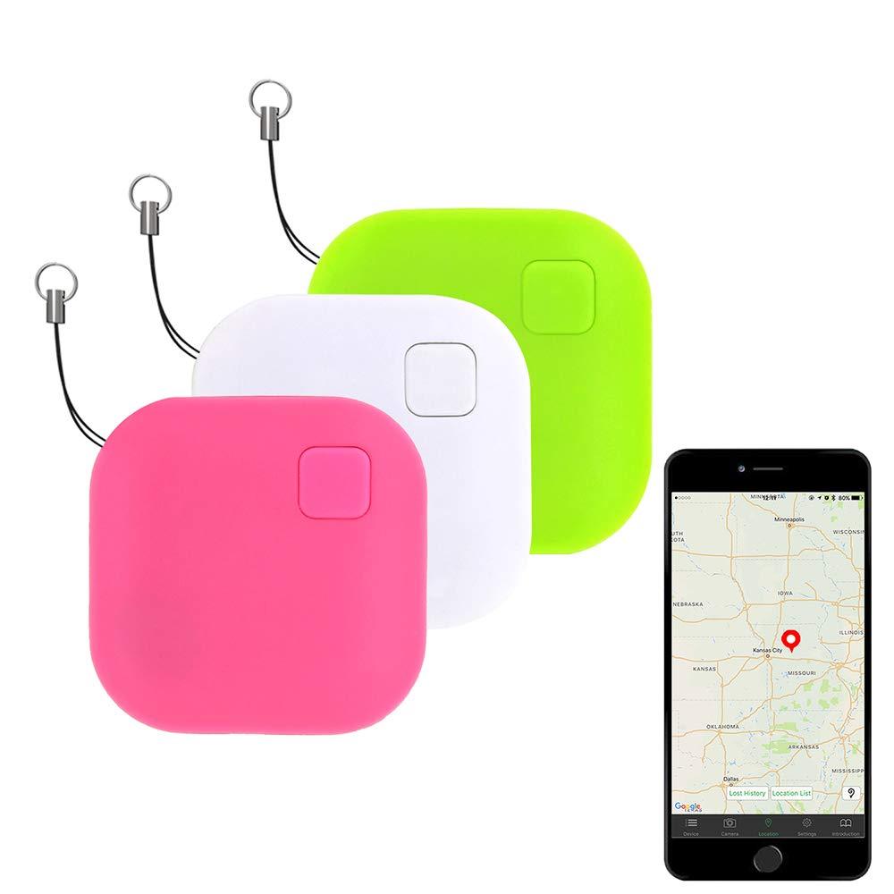 Eccbox Key Finder,Smart Bluetooth Tracker Anti Lost Locator Alarm Wireless Anti-Theft Sensor Remote Selfie Shutter Seeker Finder for Kids, Pet,Wallet, Keys, Car,Smart Phones
