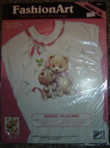 dimensions-fashion-art-full-color-iron-on-transfer-design-80073-mom-baby-bear-by-ruth-j-morehead