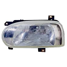 Depo 341-1101R-AS Volkswagen Golf/Cabrio Passenger Side Replacement Headlight Assembly