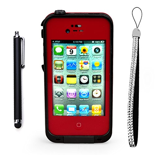 Generic MC0114 Cell Phone Case for iPhone 4 4s - Non-Retail Packaging - Red