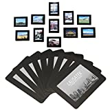 Image of Magnetic Photo Picture Frames and Refrigerator Magnets, Pocket Frame for Refrigerator, White, Black, Holds 4x6 3.5x5 2.5x3.5 Inches Photos, 15 Pack (Black)