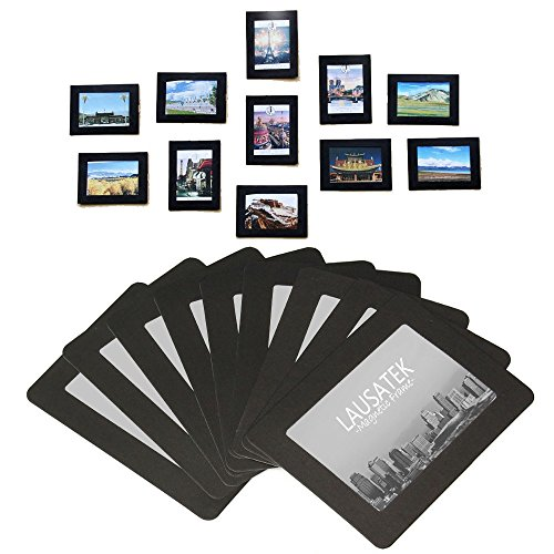 Magnetic Picture Frame, Photo Collage for Refrigerator, Magnet Board Decor, Black, Holds 4x6