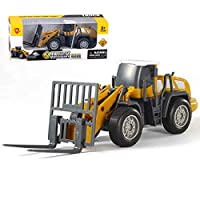 Geminismart Die-cast Articulated Road Roller Engineering Vehicle Construction Models Toys for Kids (Forklife)