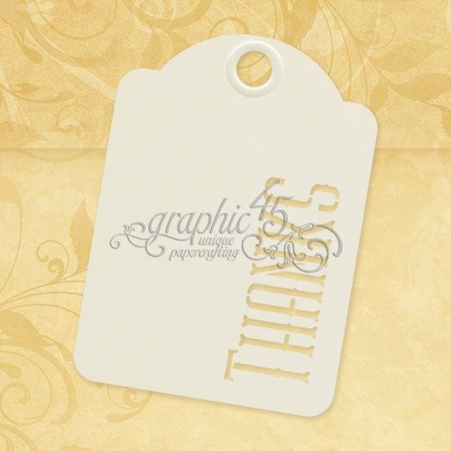 Graphic 45 Thanks-ATC Ivory Tags,