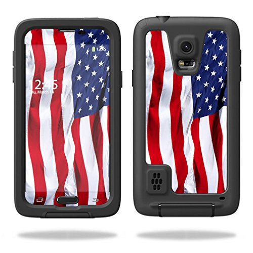 MightySkins Skin for Samsung S8 - Thin Blue Line   Protective, Durable, and Unique Vinyl Decal wrap Cover   Easy to Apply, Remove, and Change Styles   Made in The USA