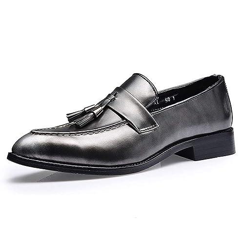 41fdc3d7eb559 Chaussure en Cuir de Loisir Pointue Souple Homme Chaussure de Coiffeur  Classique Résistant à l
