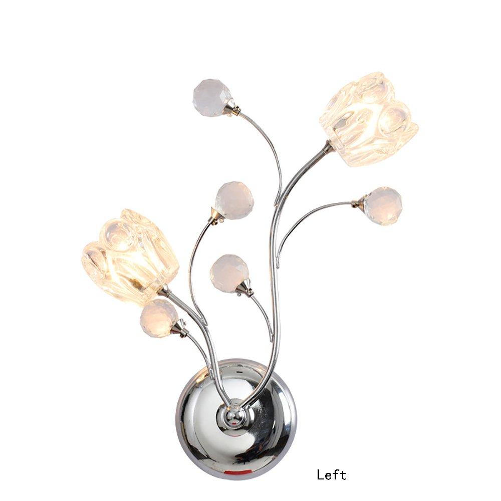 Uncle Sam LI - Moderne einfache kreative Gang Blaume-Typ Kristall Wand Lampe Schlafzimmer Nachttisch Wohnzimmer Kristall Lampe (Farbe   Links)