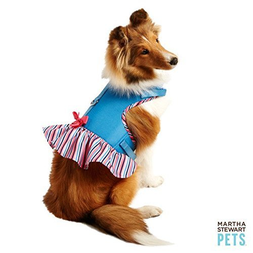 Martha Stewart Pets Dog Vest Harness Pink Stripe (XS)