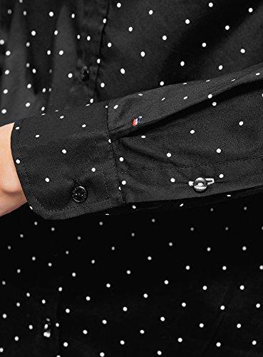 Noir Une 2910d Chemise Ultra Femme avec oodji Poche Basique WROqnp4