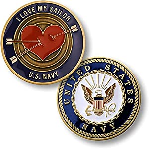 U.S. Navy I Love My Sailor Challenge Coin by Armed Forces Depot