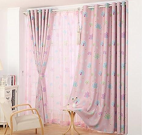 Soggiorno tende tende camera da letto Ganci tende rosa ragazze ...