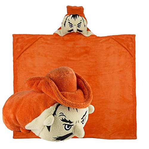 Comfy Critters Stuffed Animal Blanket – College Mascot, Oklahoma State University 'Pistol Pete' – Kids huggable pillow and blanket perfect for the big game, tailgating, travel, and much more by Comfy Critters