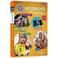 Was ist was: Geschichte - Ritter und Burgen, Seeräuber, Wikinger, Indianer [4 DVDs]