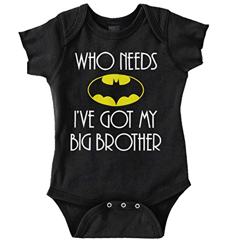 Baby Big Clothes (Who Need Batman Big Brother Cute Lego Baby Gift Idea Comic Romper Bodysuit)