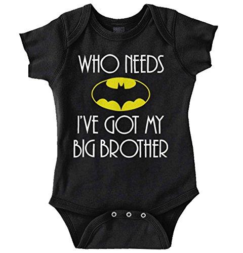Big Baby Clothes (Who Need Batman Big Brother Cute Lego Baby Gift Idea Comic Romper Bodysuit)