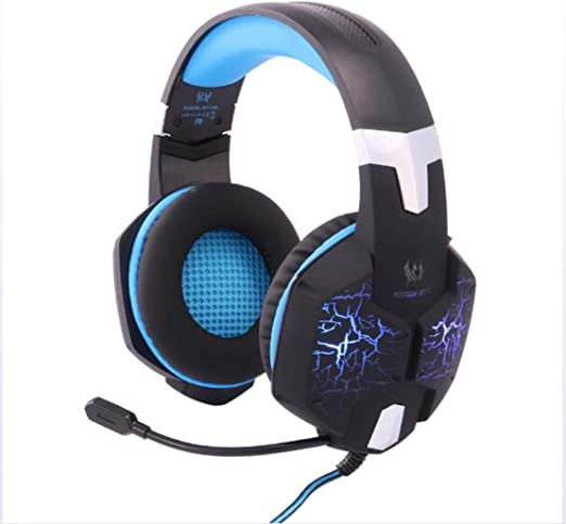 ZY Auriculares estéreo para Juegos, micrófono con cancelación de ...