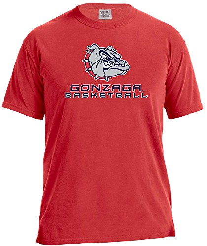 NCAA Gonzaga Bulldogs Basketball Energy Short Sleeve Comfort Color Tee, Small,Red ()