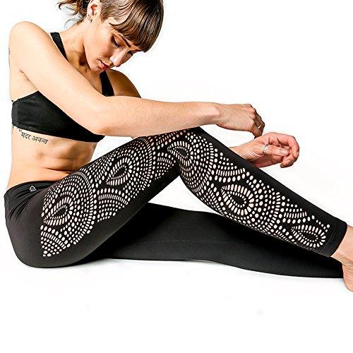 9aa3e9d517 Galleon - Peek-a-Boo Leggings By Yoga Design Lab. Luxury Yoga Pants  Redefined!