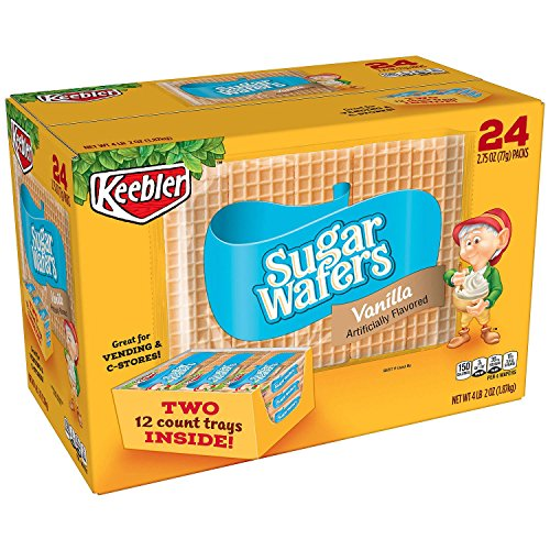 Cookie Wafer Filled - Keebler Sugar Wafers - 2.75 oz. - 24 pkgs.